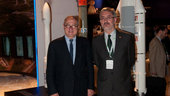 Antonio Avila Cano and Jean-Jacques Dordain visit the ESA pavili