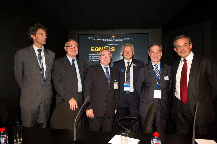 Celebration of the publication of the EGNOS landing procedure