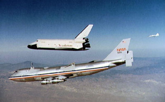 space shuttle launch from 747 - photo #23