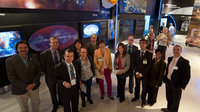 Fernando Doblas presents the ESA pavilion to Heads of Communicat