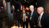 Karel Dobes and Karlheinz Kreuzberg visit the ESA pavilion