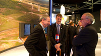 Michael Griffin and Jean-Jacques Dordain visit the ESA pavilion