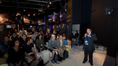 Pascal Gilles presents the Cryosat mission at the ESA pavilion