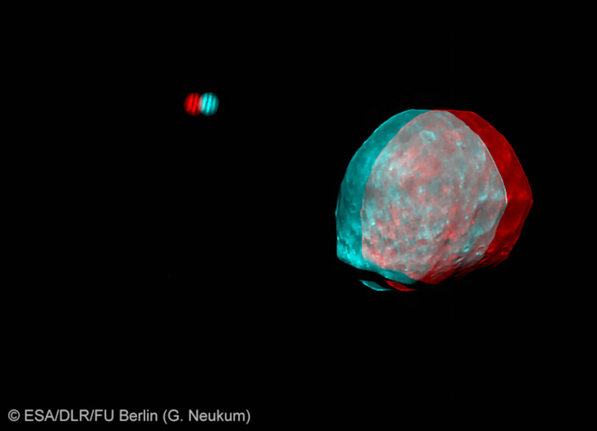 Phobos and Jupiter in 3D