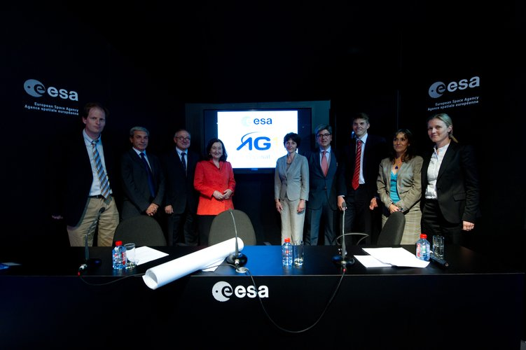 Presentation of the Hispasat Advanced Generation 1 mission logo