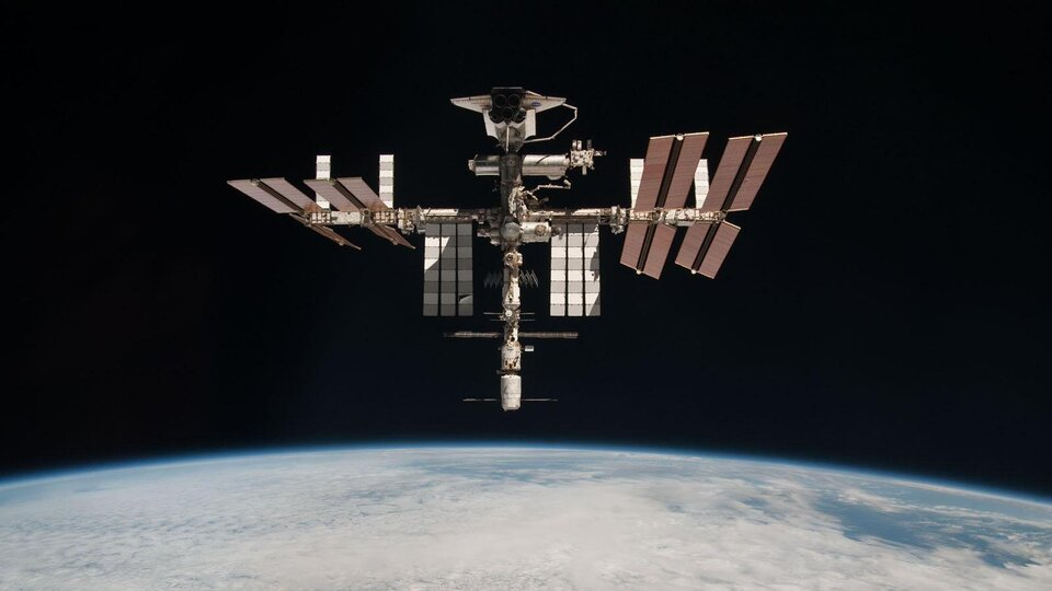 International Space Station taken by Paolo Nespoli on his last return to Earth