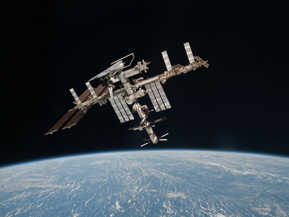 Space Station seen from Soyuz