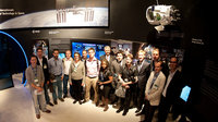 ESA staffs and Franco Bonacina visit the ESA pavilion