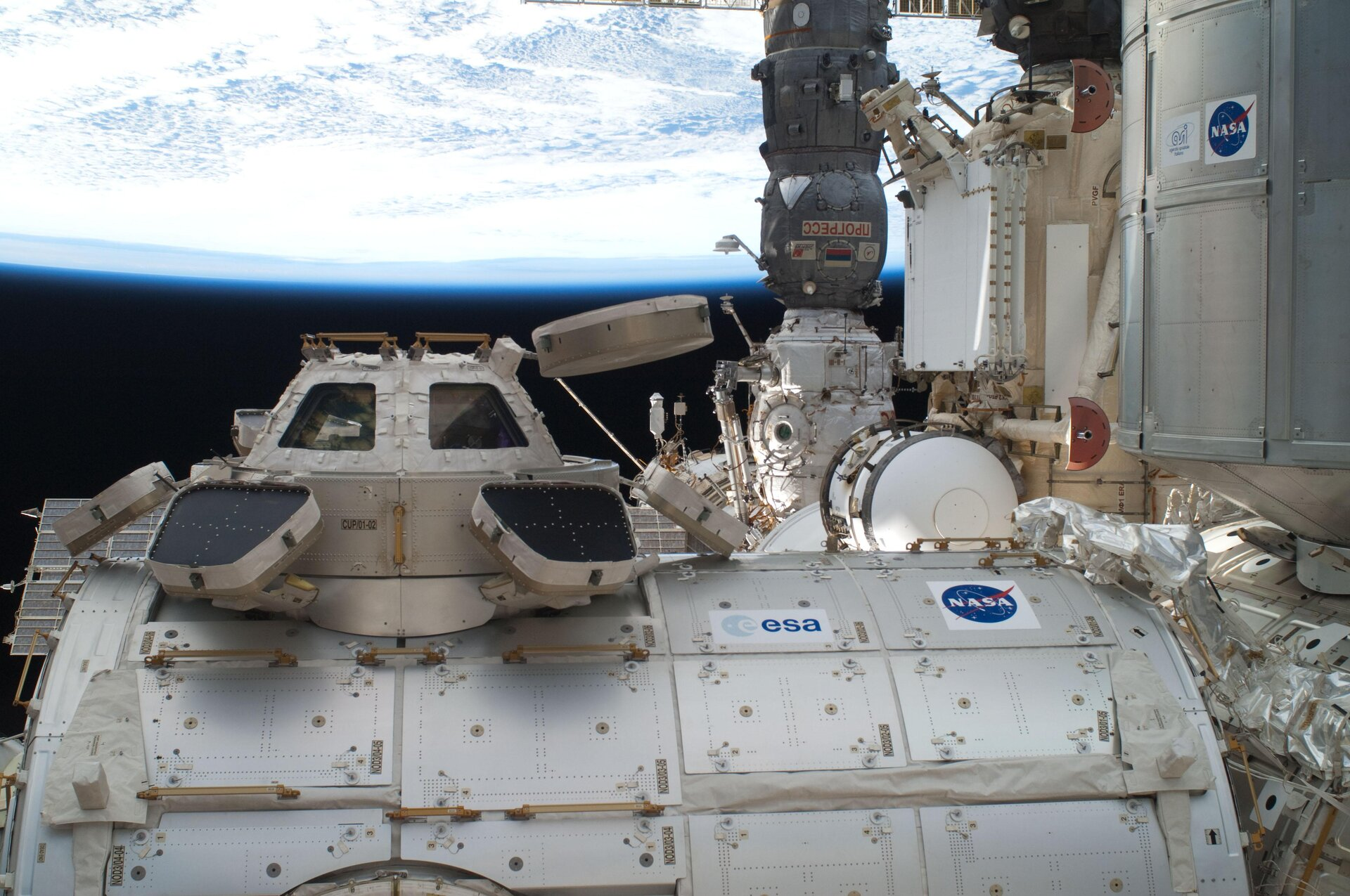 The European-built Cupola of the ISS