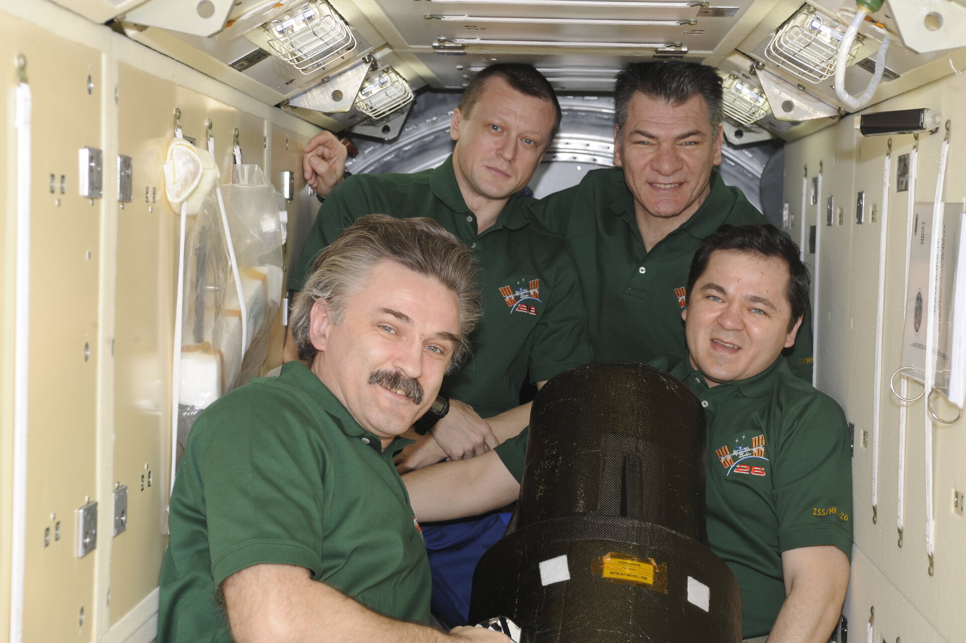 ISS crew working with Matroshka