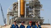 STS-135 crew with Atlantis