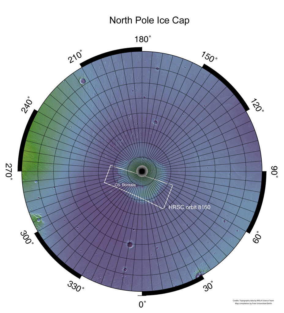 Mars' northern polar regions in context