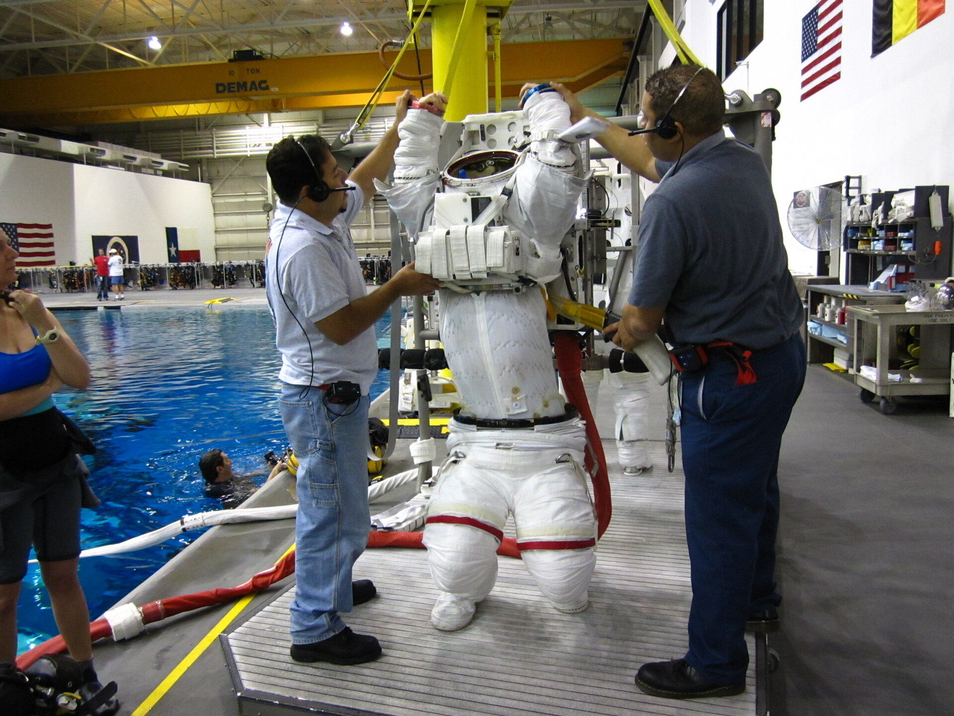 Alexander Gerst suited up for spacewalk training