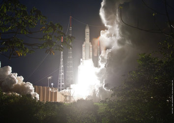 Ariane 5 flight VA204 liftoff