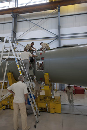Assembly of Soyuz flight VS01