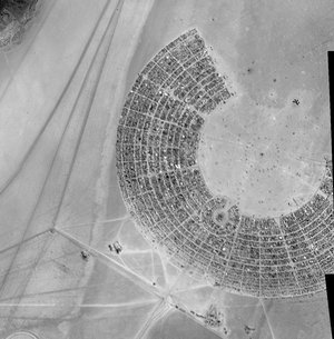Burning Man from orbit