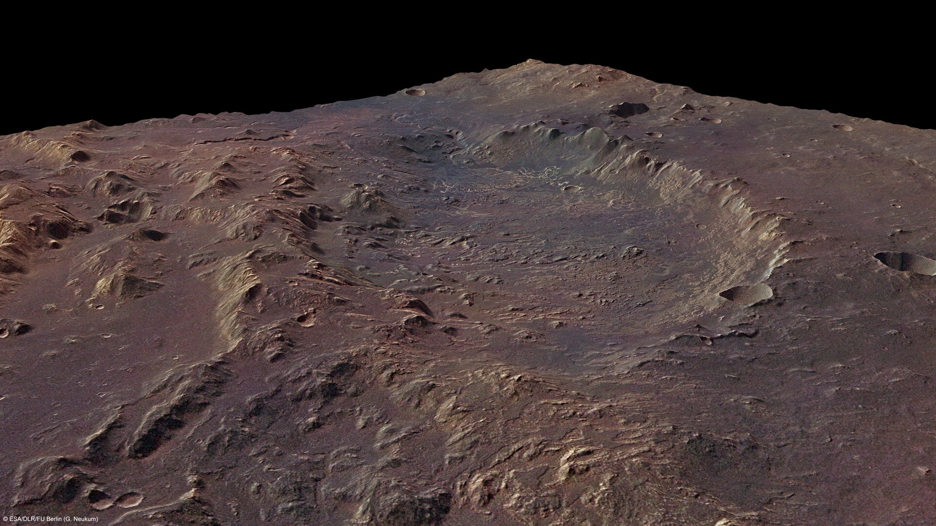 Eberswalde crater in perspective