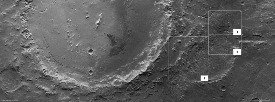 Features in Eberswalde crater