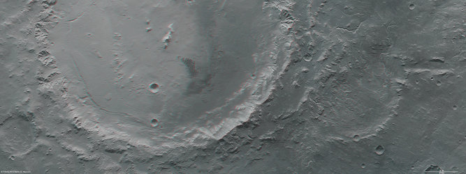 Holden and Eberswalde crater in 3D