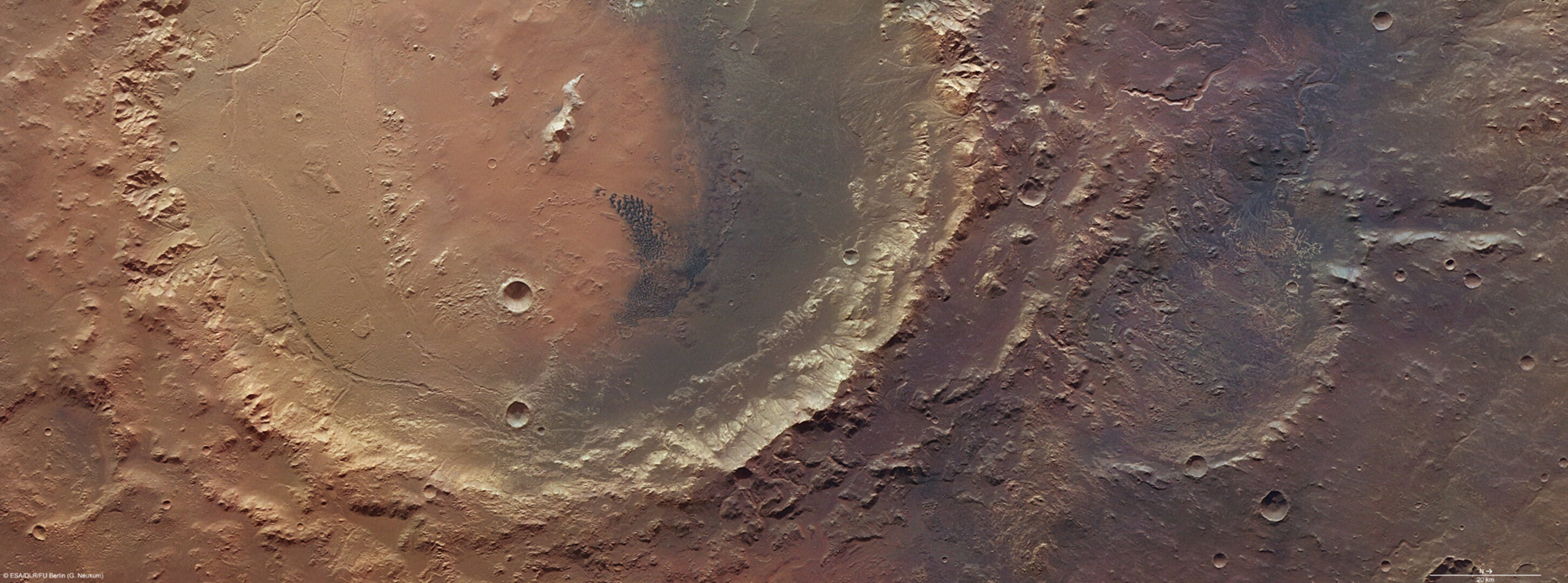 Holden and Eberswalde craters