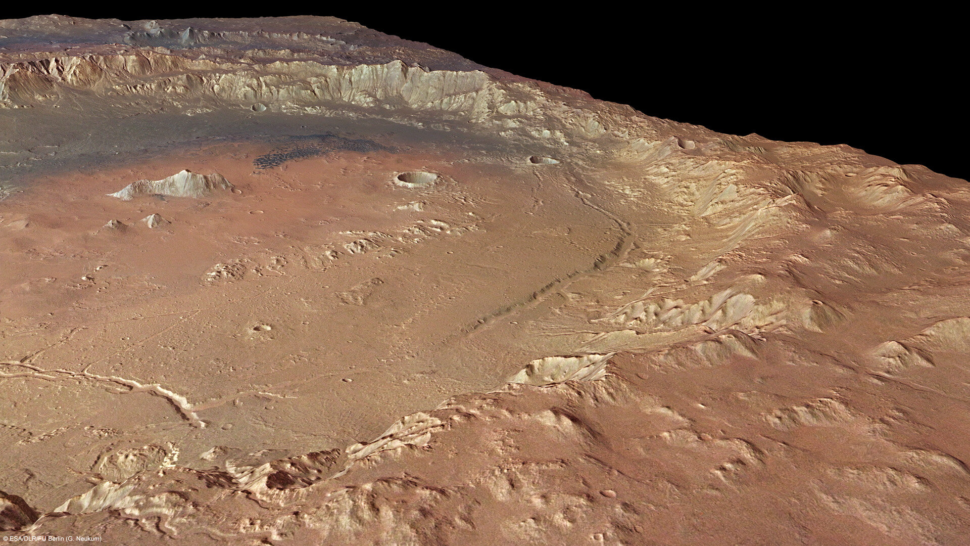 Holden crater in perspective