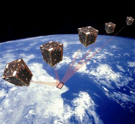 Proba-1 rotating in space
