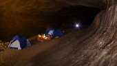 Camping in cave