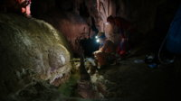 In the cave on second exploration day