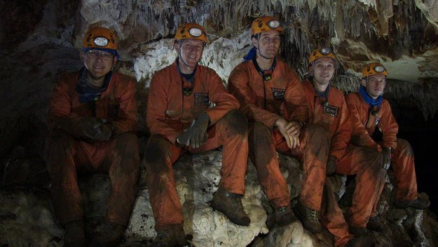 The caving team in team portrait
