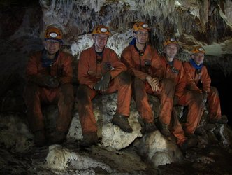 Caving team portrait