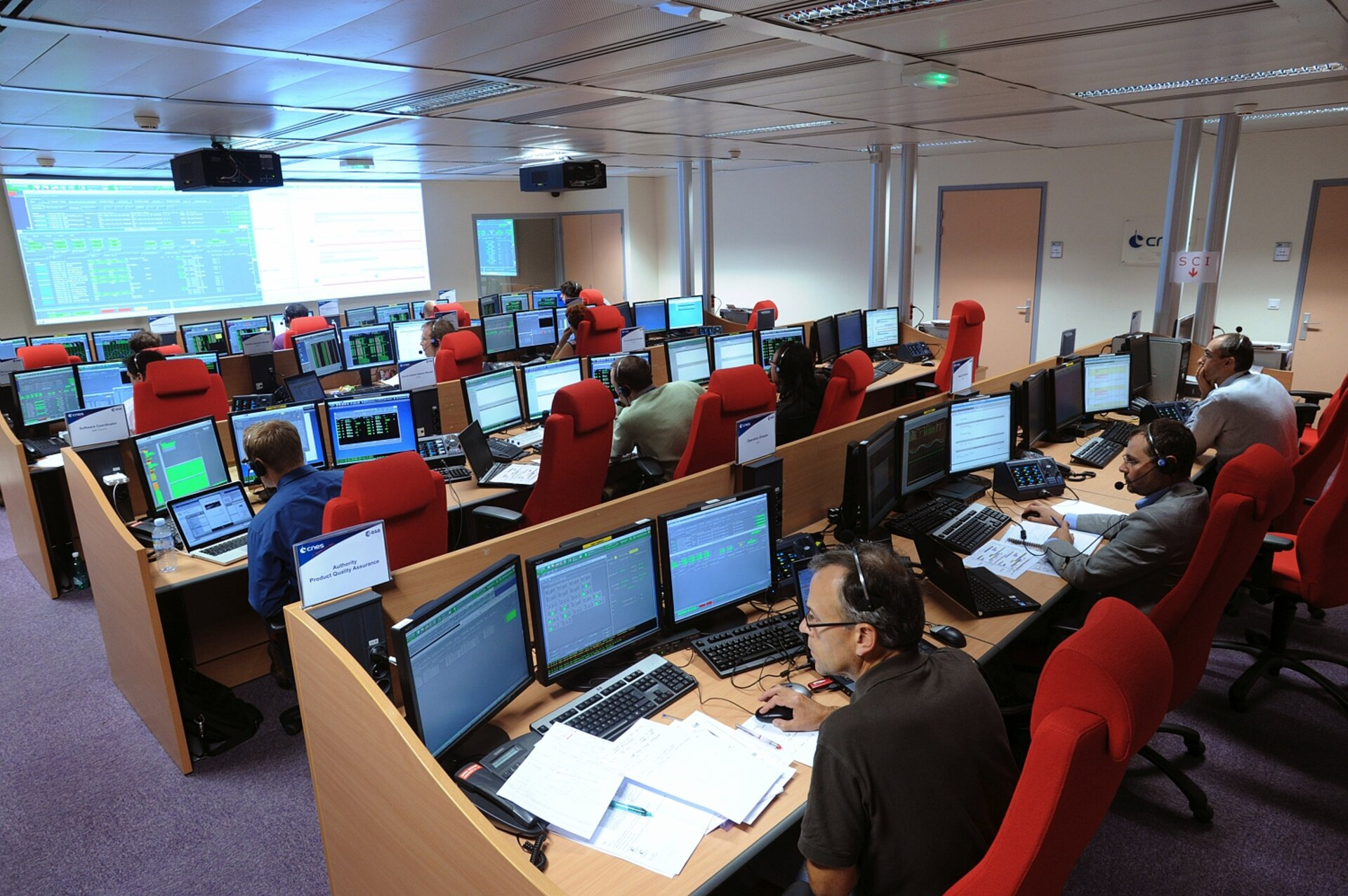 Galileo LEOP control room, Toulouse