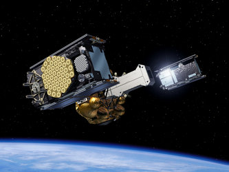 Galileo satellites ejected from dispenser