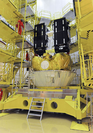 Galileo satellites placed onto Fregat upper stage
