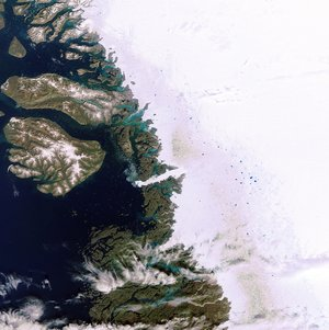 Icy waters in Greenland