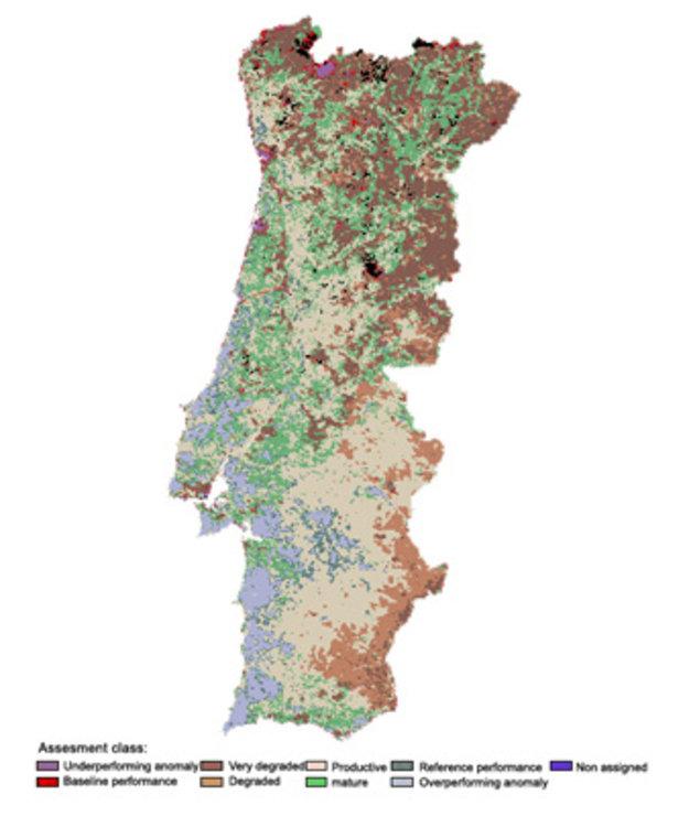mapa de solos de portugal Satellites combat degrading lands / Space for our climate  mapa de solos de portugal