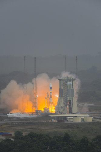 Liftoff of Soyuz flight VS01