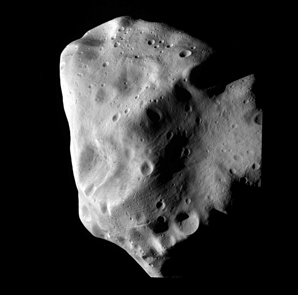 Asteroid Lutetia imaged by Rosetta