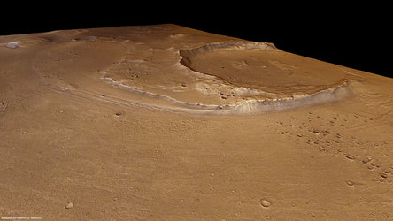 Oraibi crater in perspective