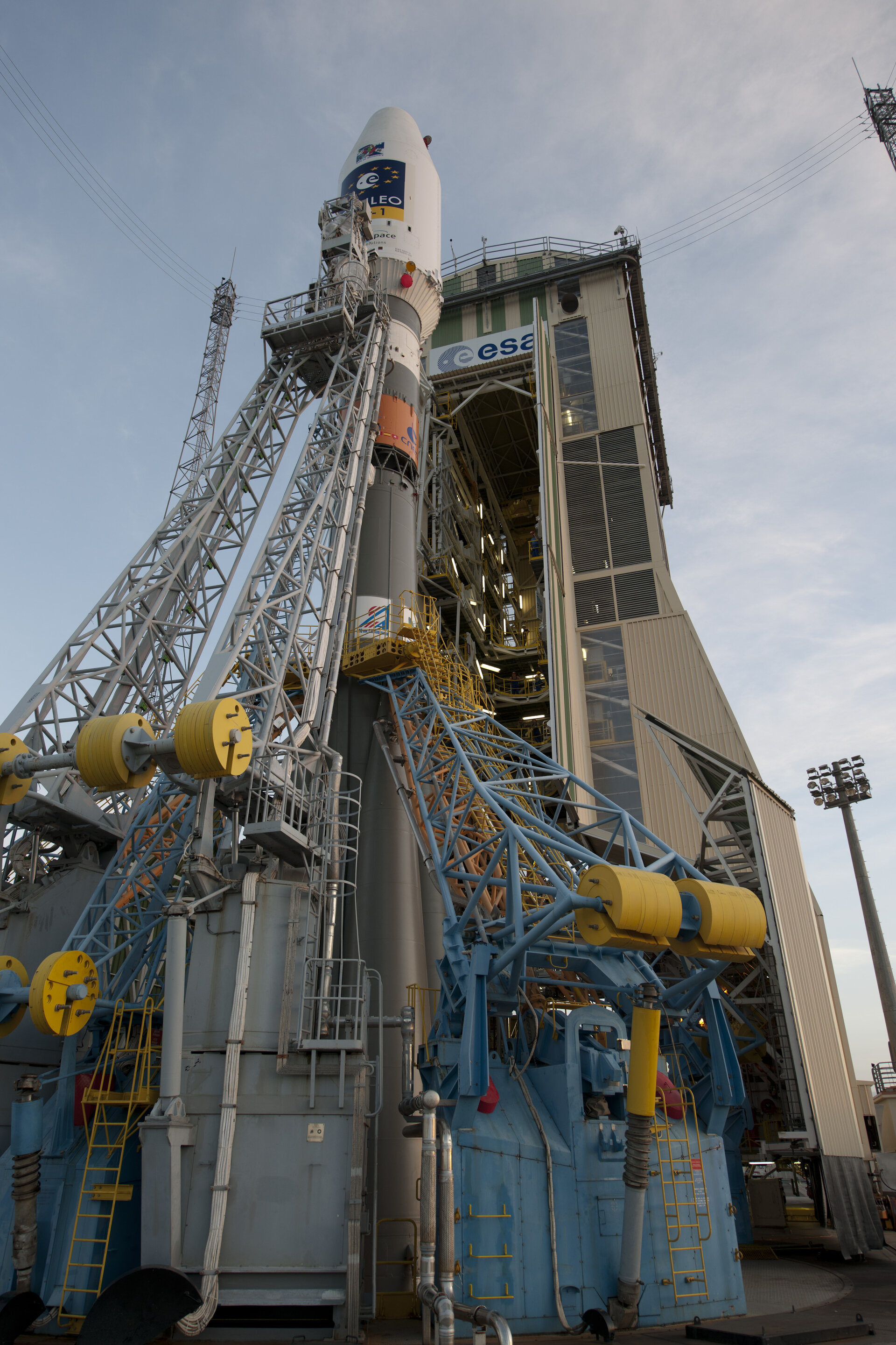 Soyuz VS01 on launch pad