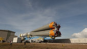 Soyuz transfer to launch zone