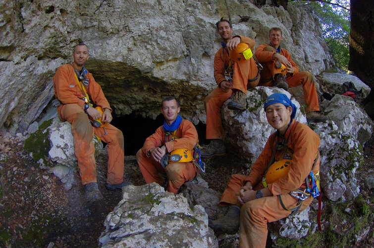 The caving team after return to the surface