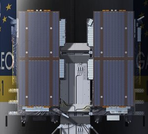 The dispenser holds the Galileo IOV satellites in place for launch