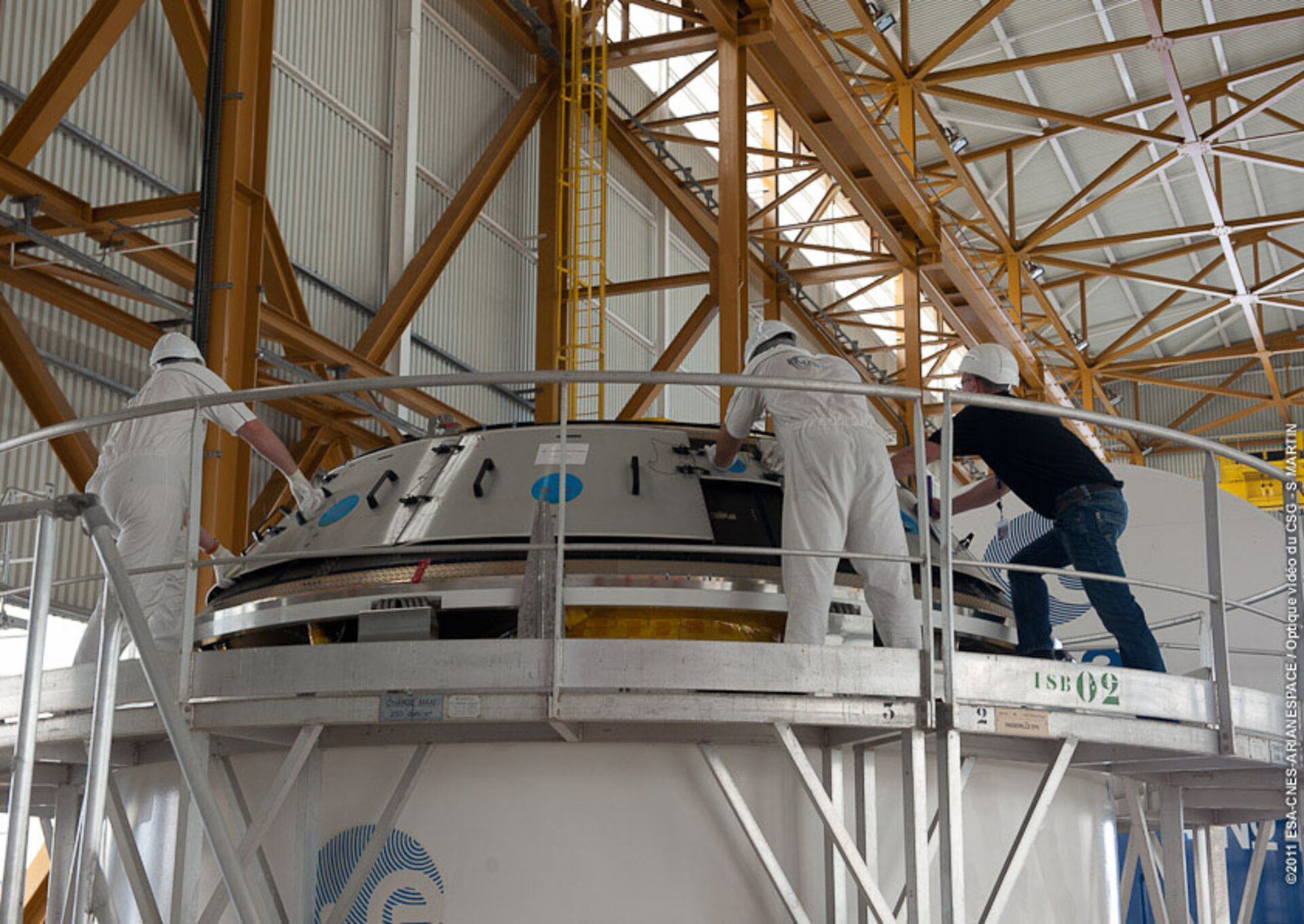 ATV-3 Booster section unpacked