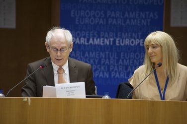 Herman Van Rompuy, President of the European Council, at the 4th Conference on EU Space Policy