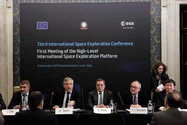 High-level representatives at the International rendezvous in Lucca on global space exploration