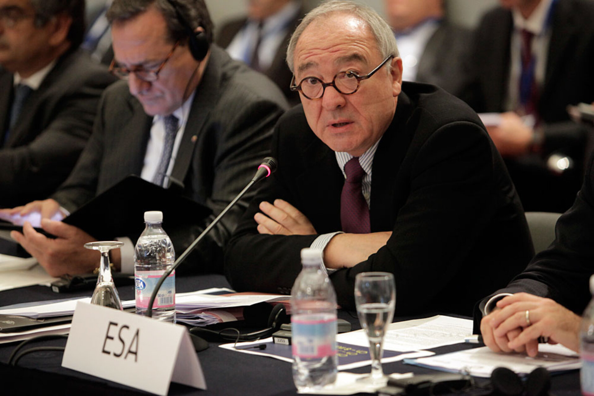 Jean-Jacques Dordain, ESA Director General, during the International rendezvous in Lucca on global space exploration