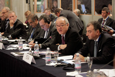 Jean-Jacques Dordain, ESA Director General, during the Lucca conference