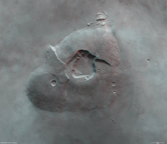 Tharsis Tholus in 3D