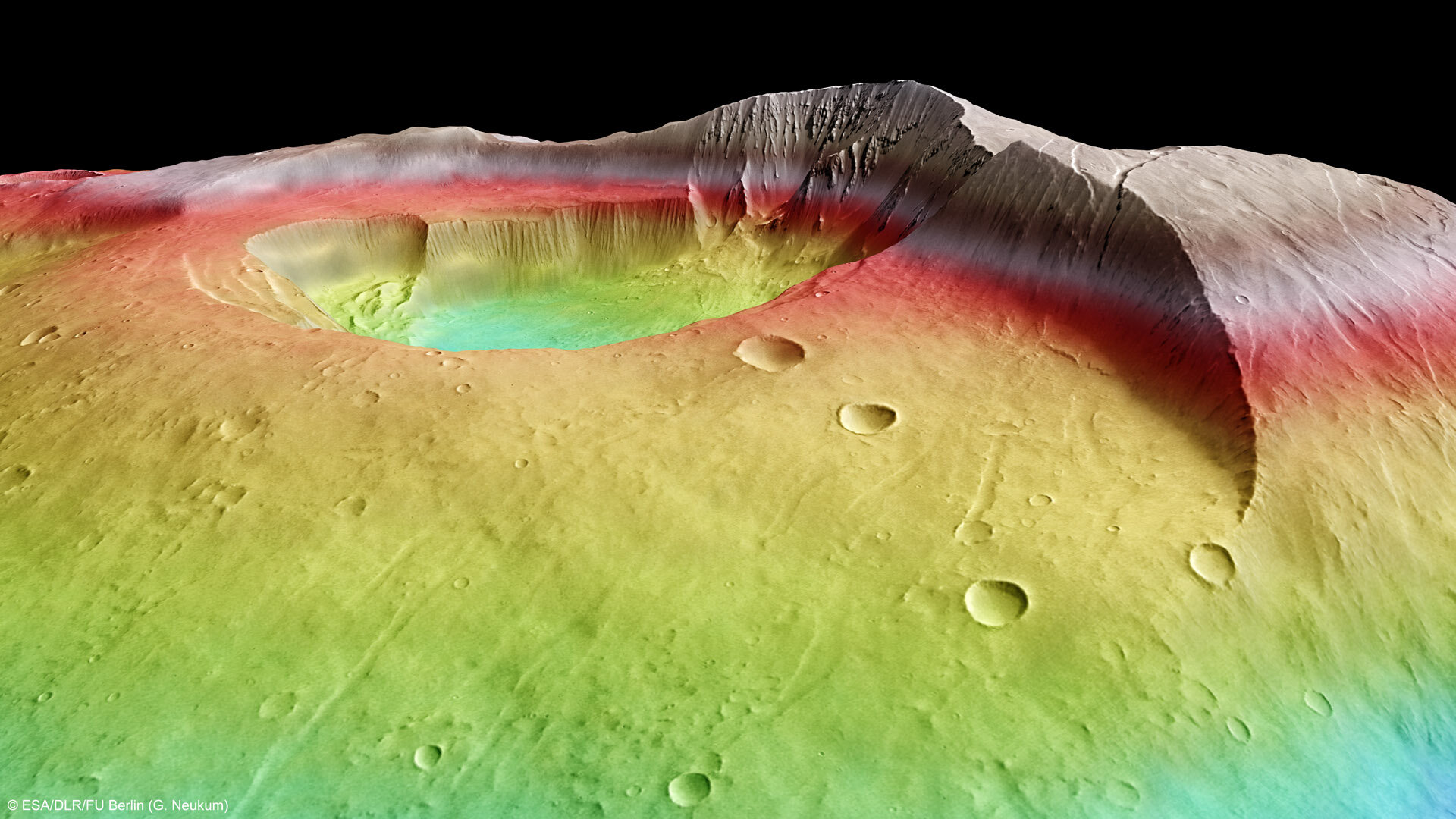 Tharsis Tholus in perspective