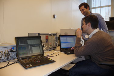Galileo team at Redu receiving signals
